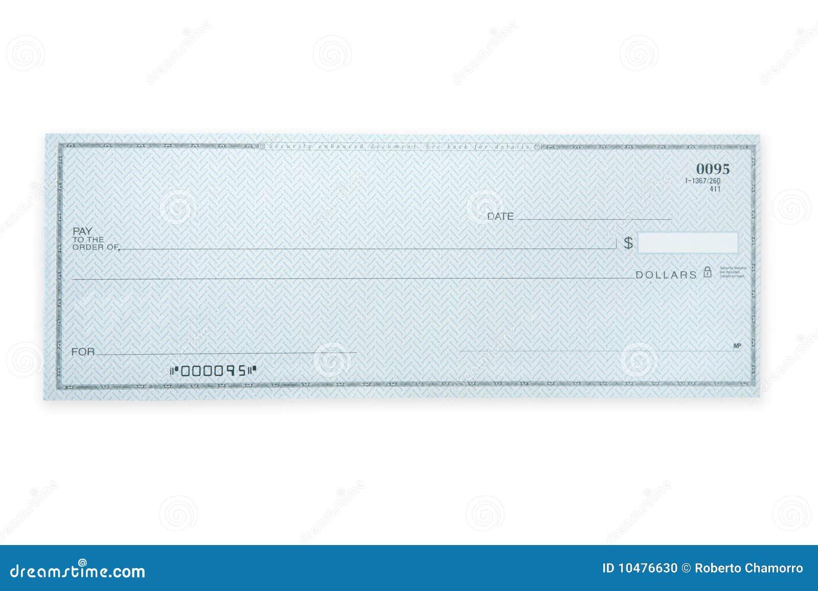 незаполненный чек