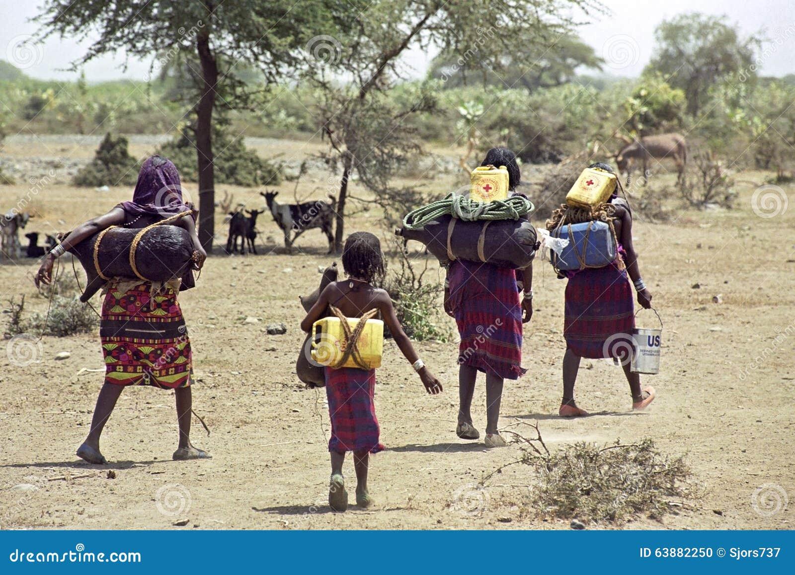 Неизбежный голод и вряд вода обеспечат, Эфиопия