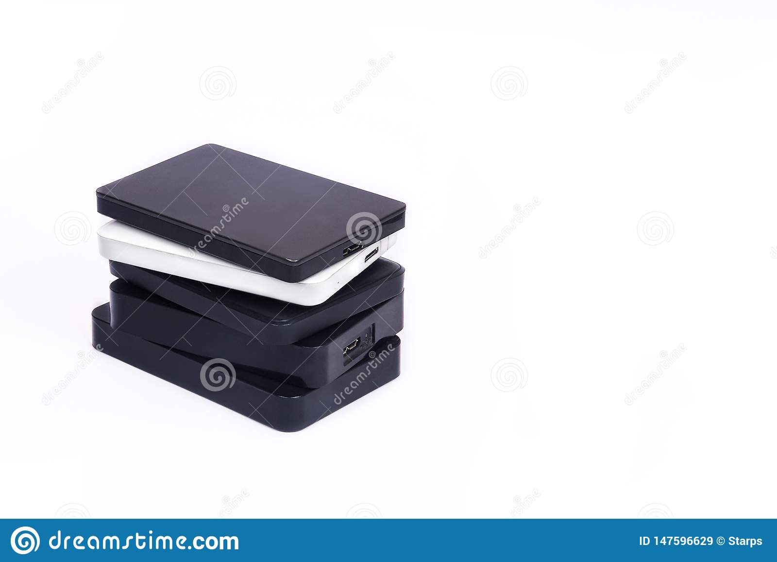 Некоторые внешние жесткие диски для накапливать данные, подпорок и информации о безопасности