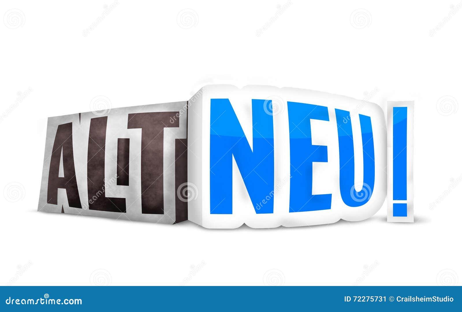 Download Немецкий язык новое старое 3D Иллюстрация штока - иллюстрации насчитывающей возглас, конструкция: 72275731