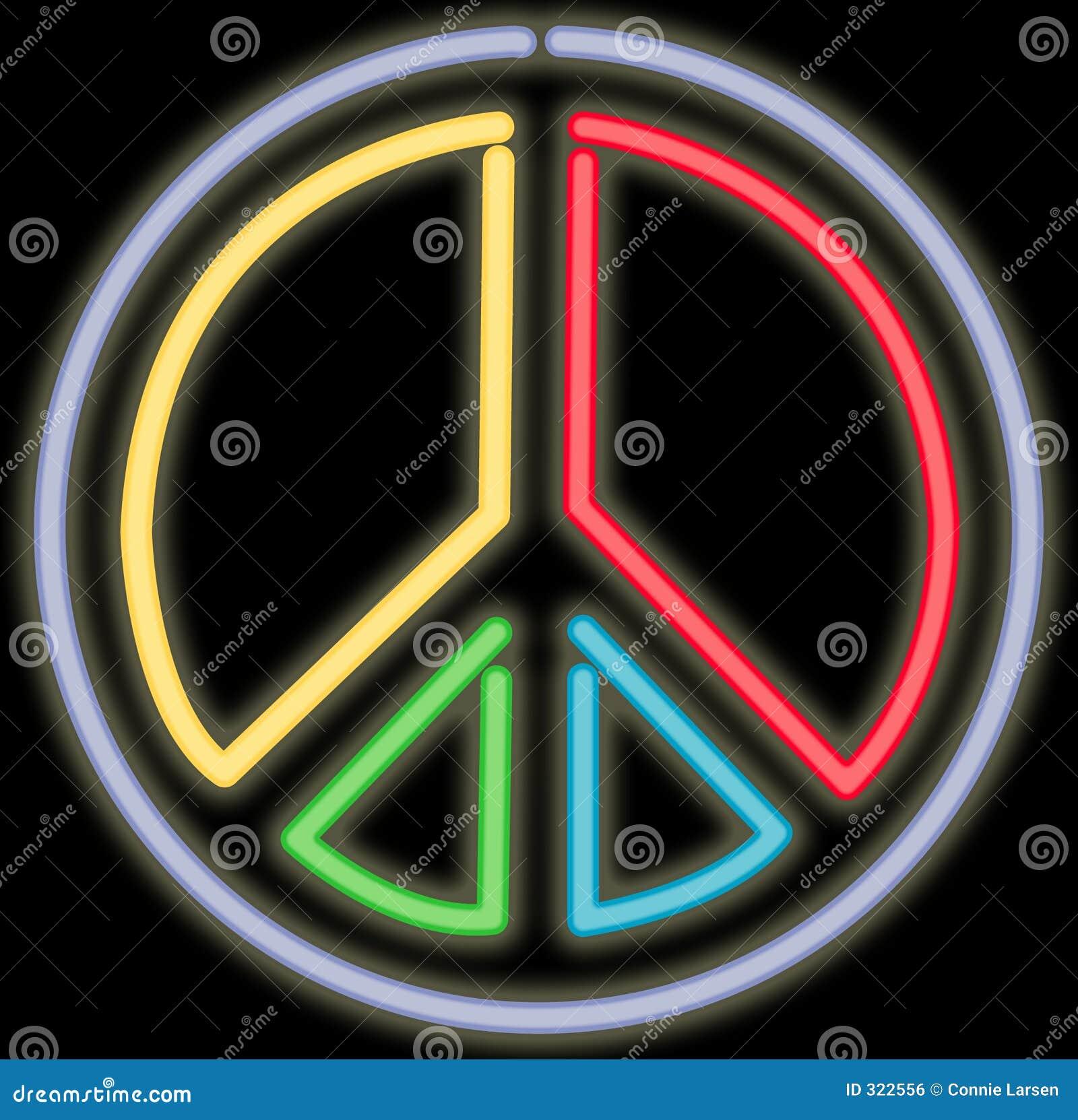 неоновый знак мира