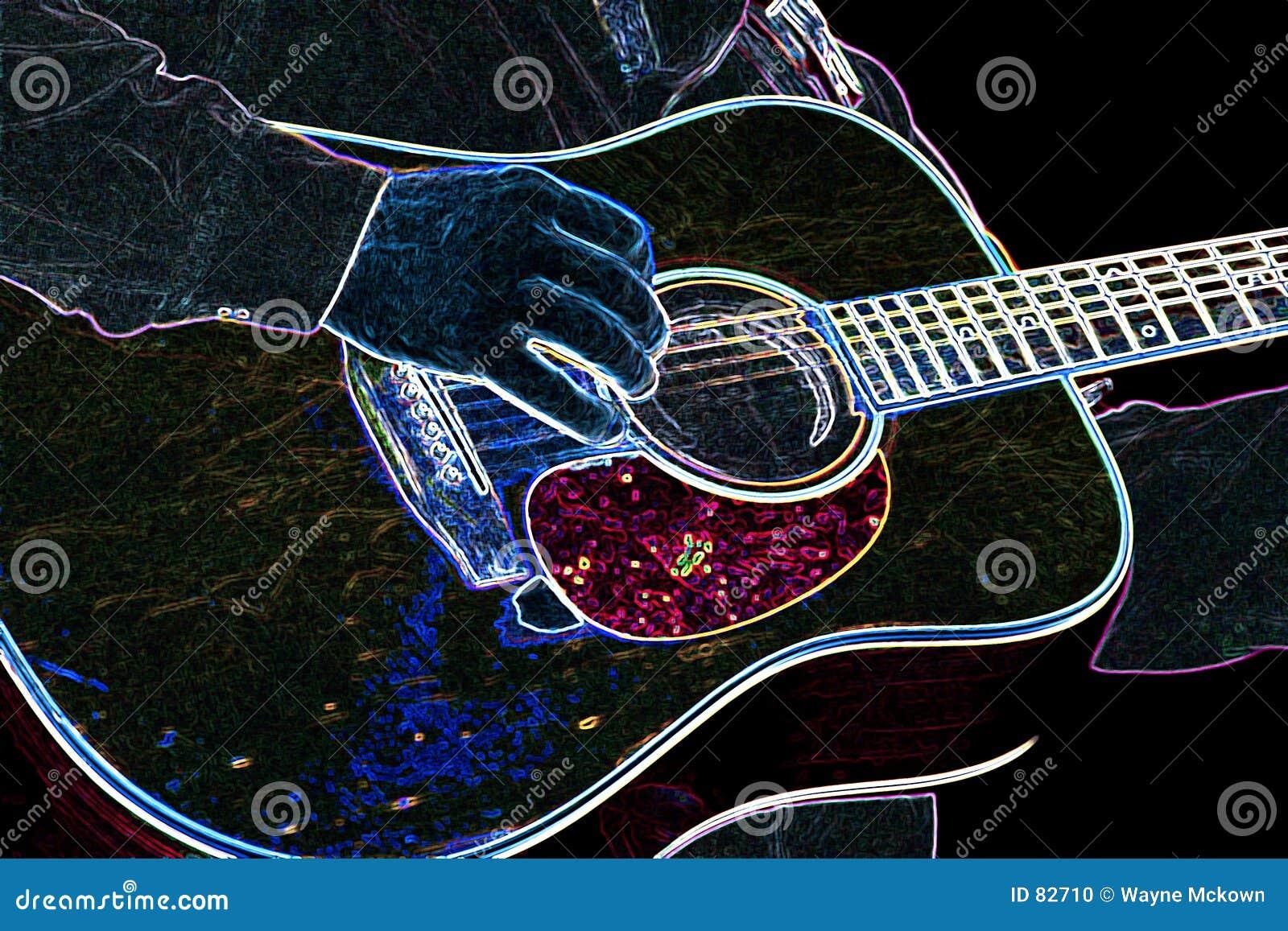 неон гитары