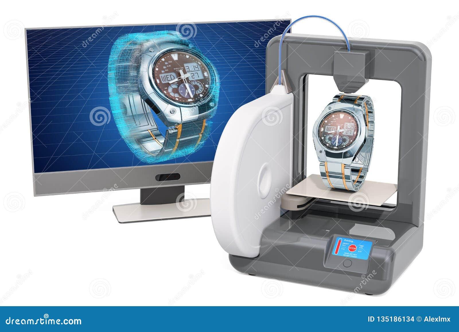 Непрерывнодискретные наручные часы для людей на трехмерном принтере, 3d печатании, перевод 3D