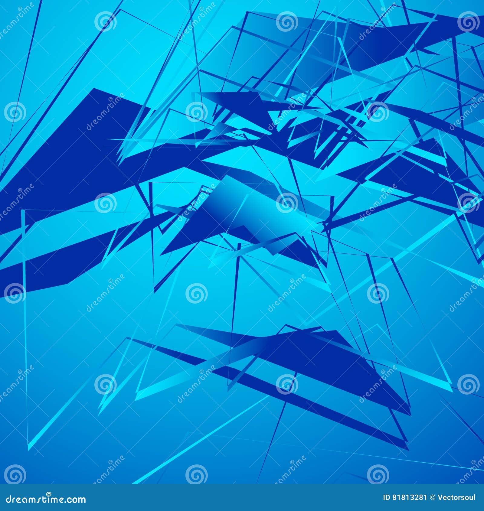 Нервная monochrome иллюстрация с геометрическими формами Абстрактное geo