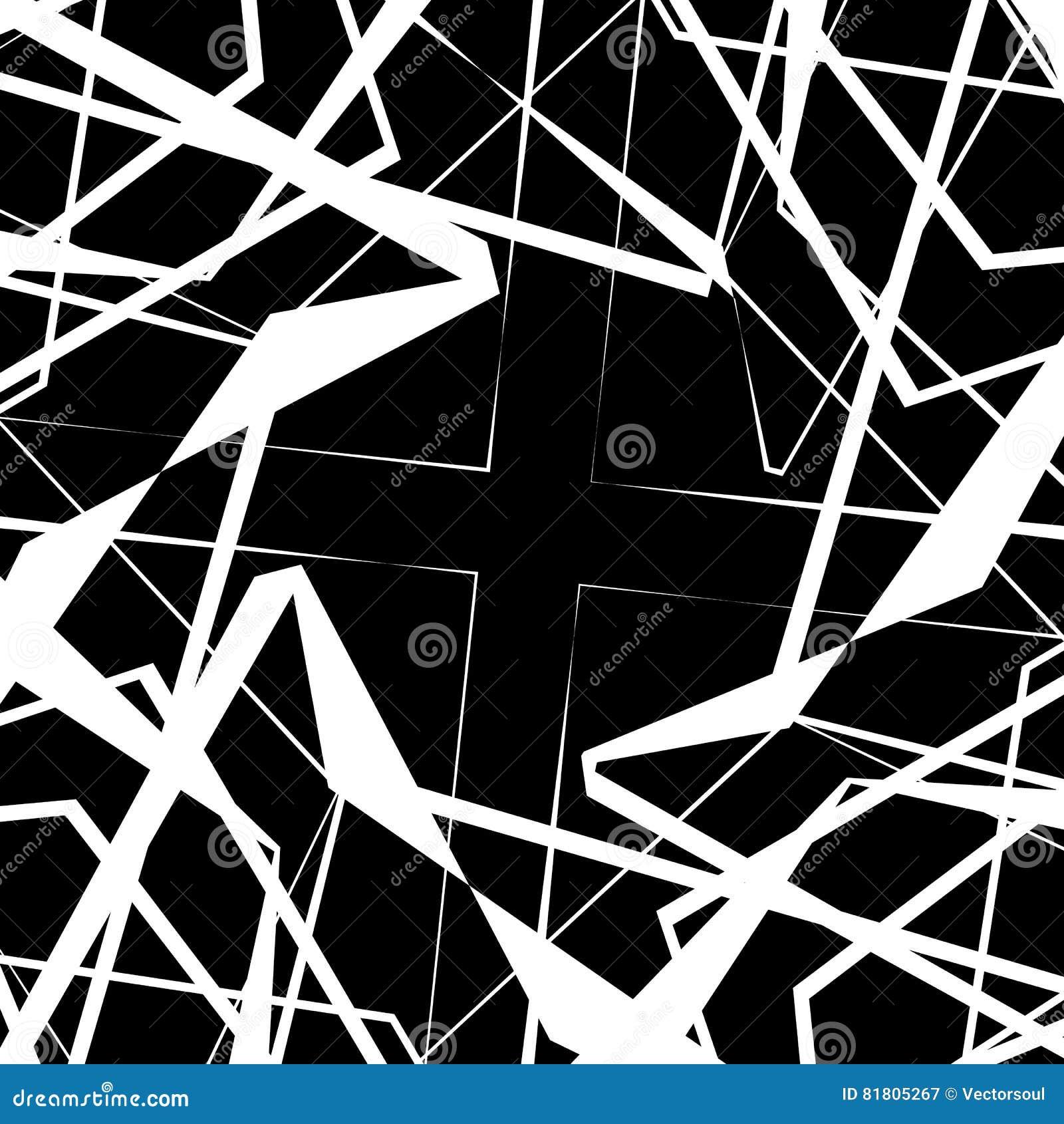 Нервный, угловой monochrome геометрический элемент Абстрактные графики