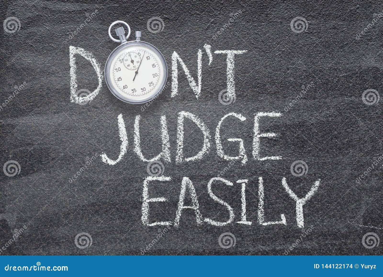 Не судья легко