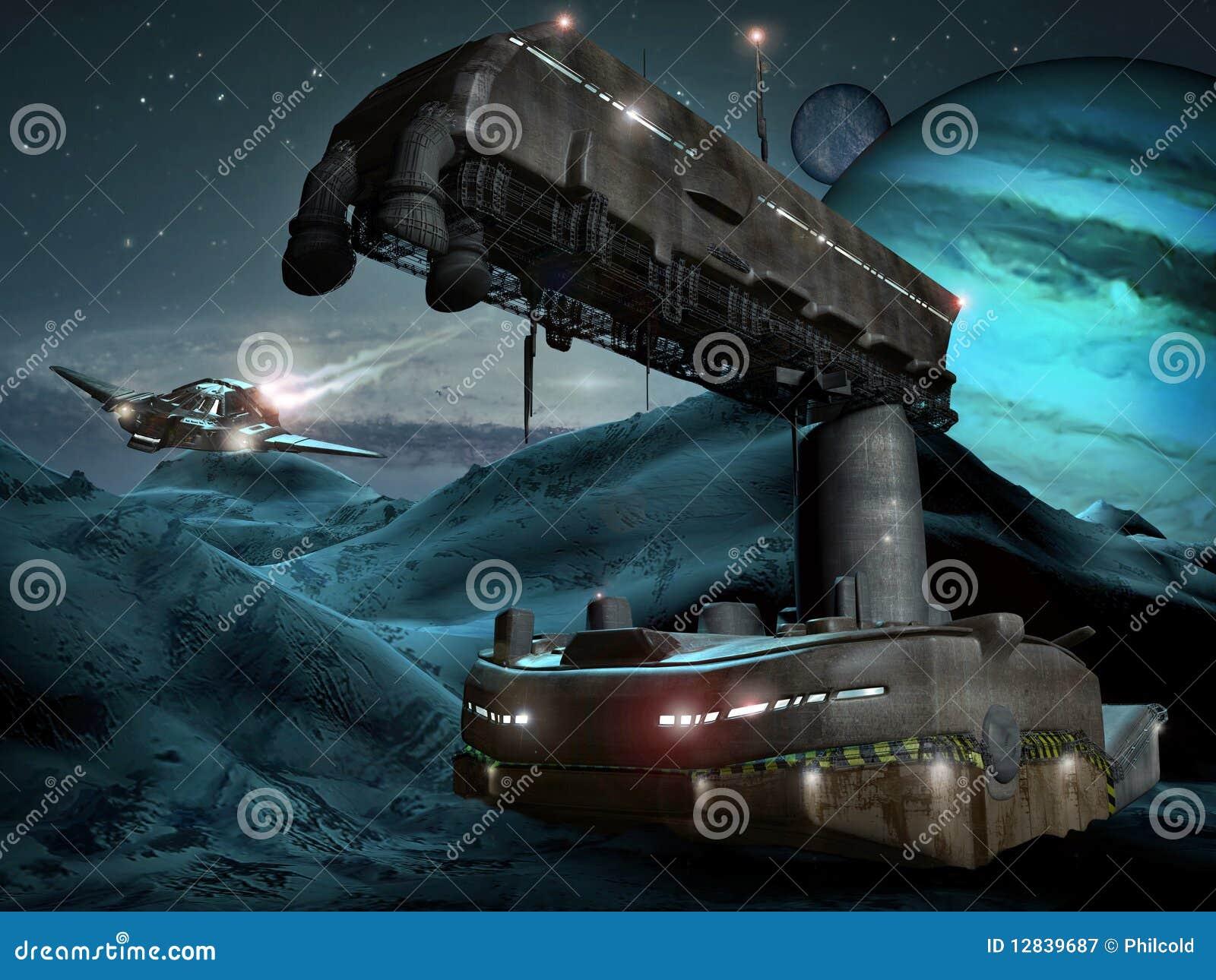 низкопробный космос планеты льда