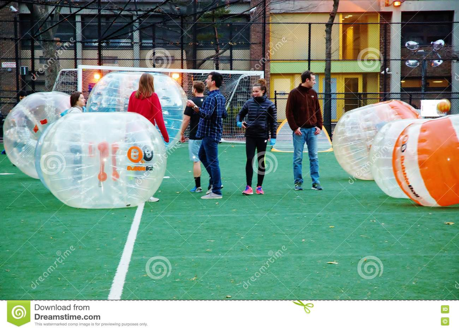 Новаторский футбол Манхэттен Нью-Йорк пузыря