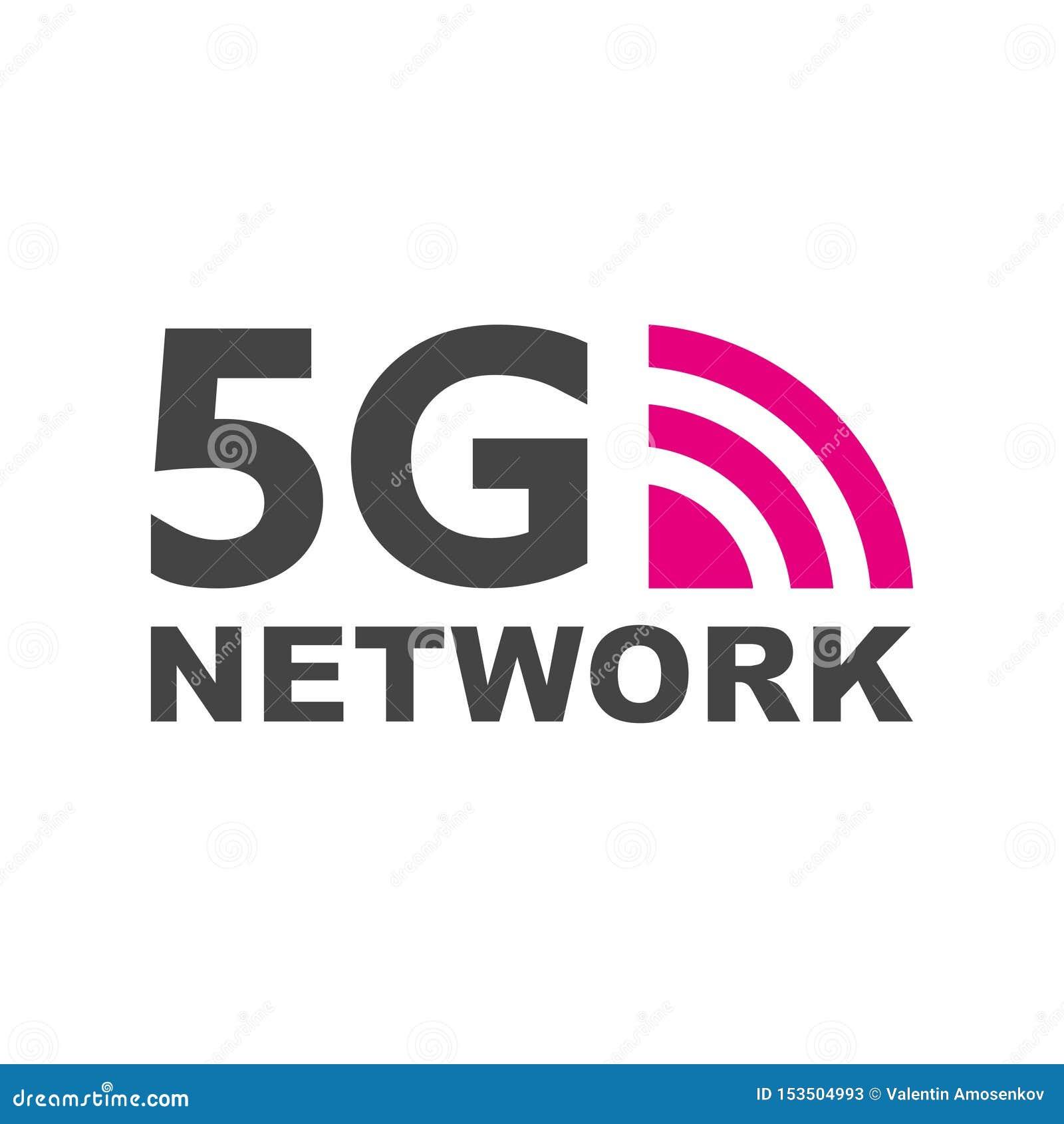 новое беспроводное соединение wifi интернета 5G Знак 5G сети значка технологии вектора Пятое новаторское поколение