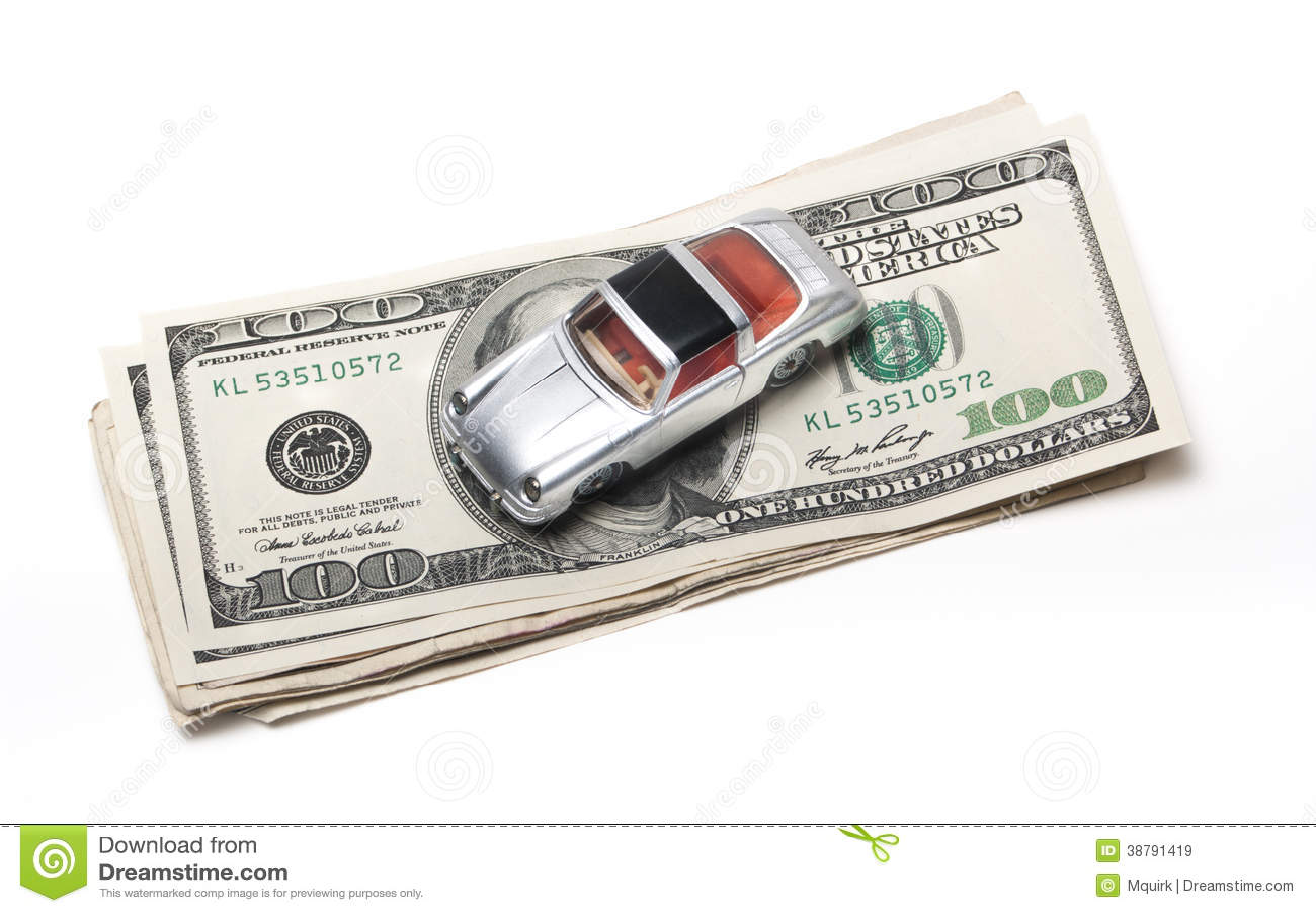 Новые деньги автомобиля
