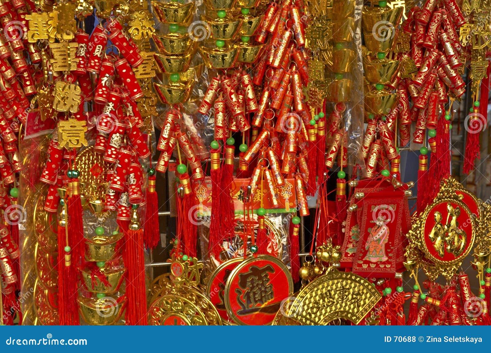 Новый Год украшения 2 китайцев