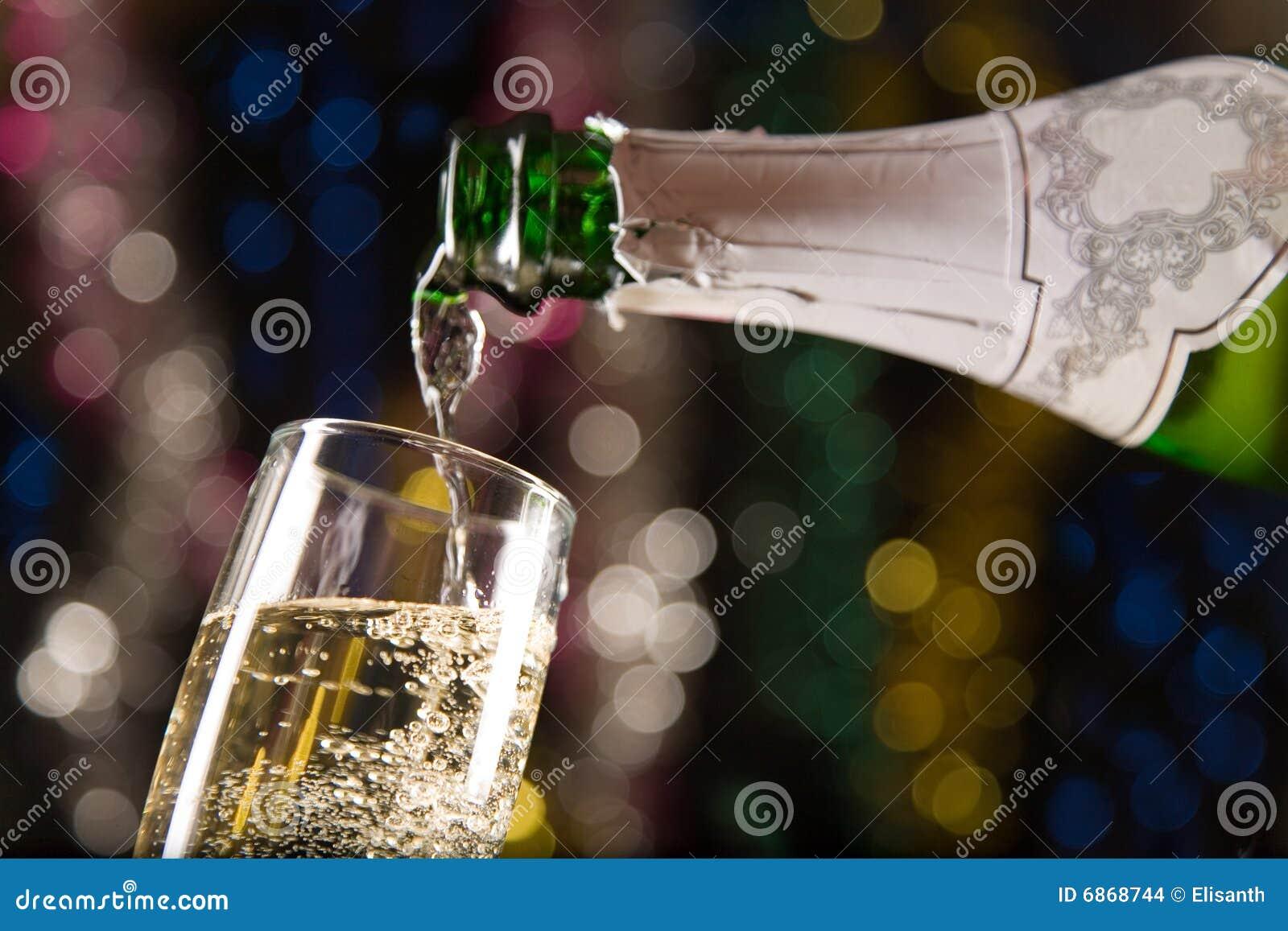 Новый Год шампанского карточки