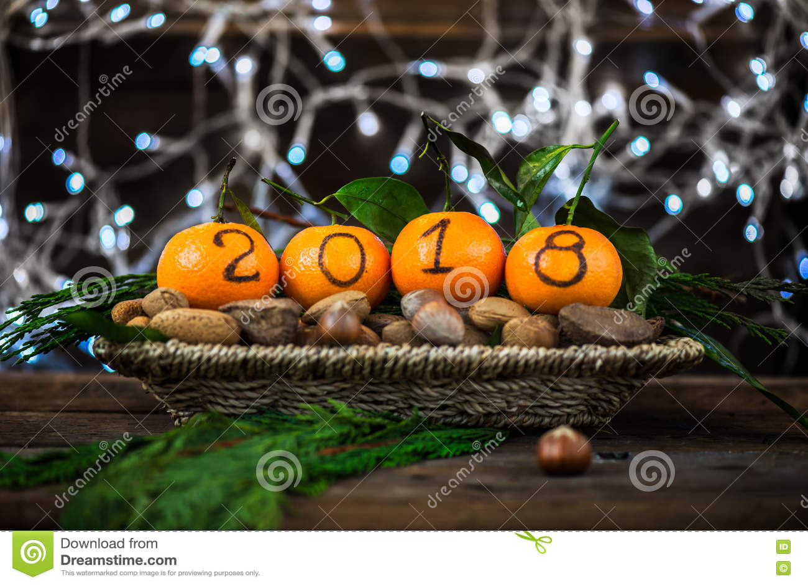 Новый Год 2018 приходя концепция