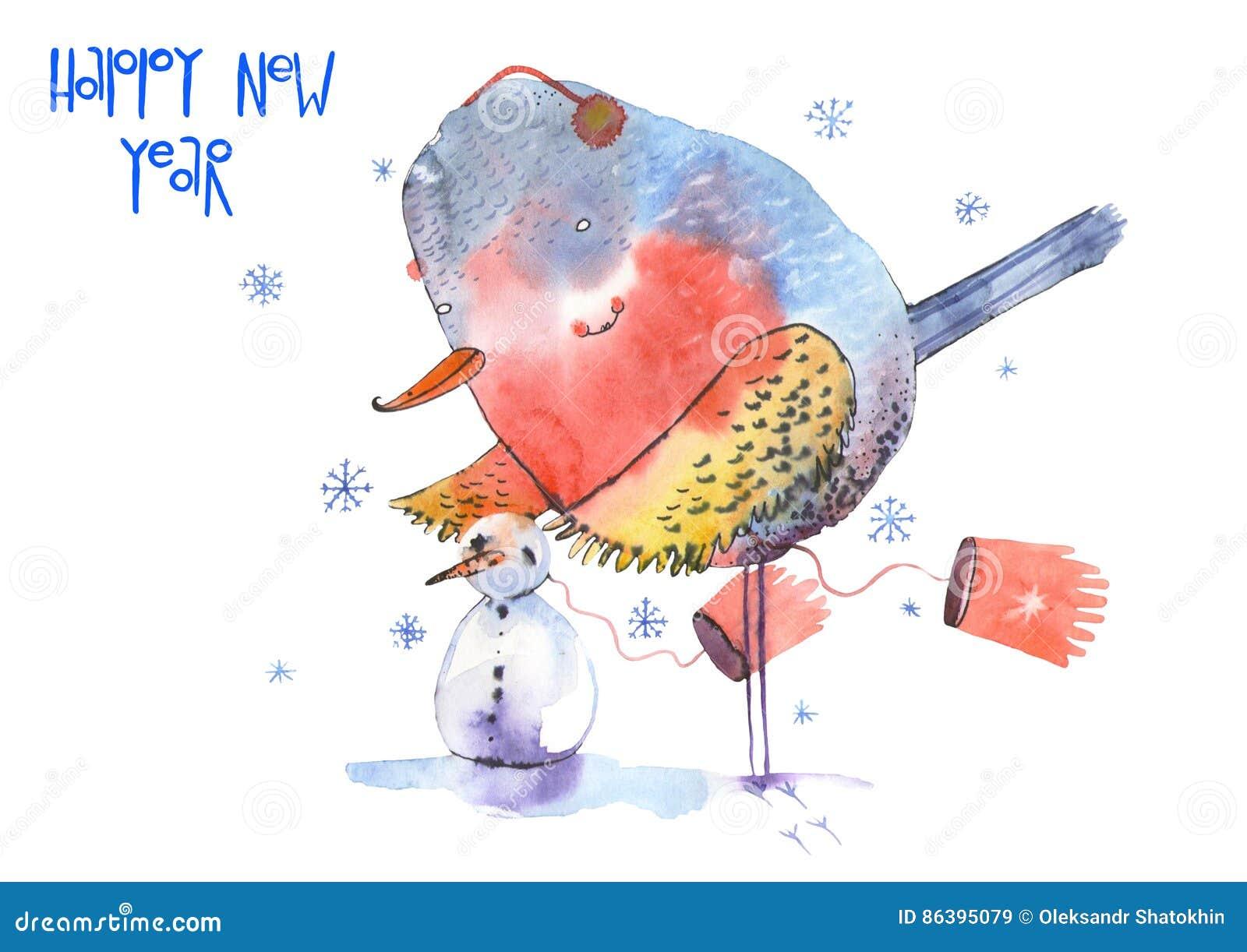 Птица на Новый год