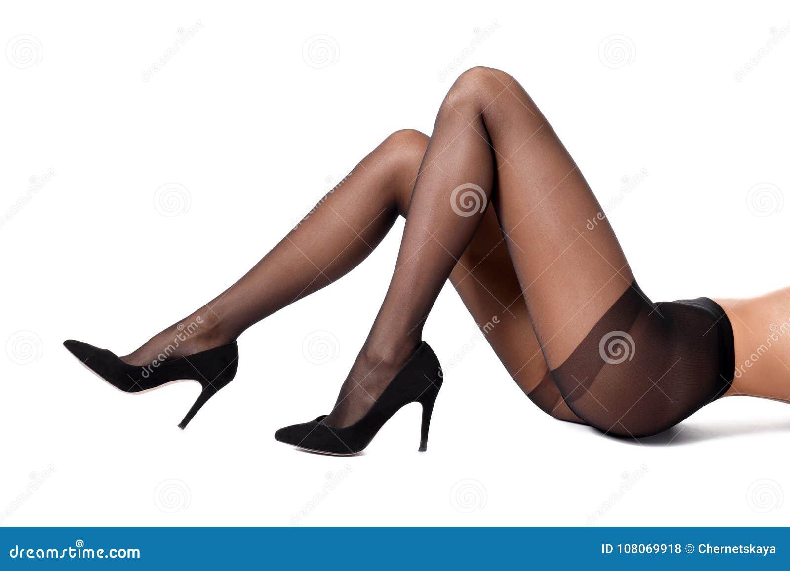 Пятки в колготках женские темных