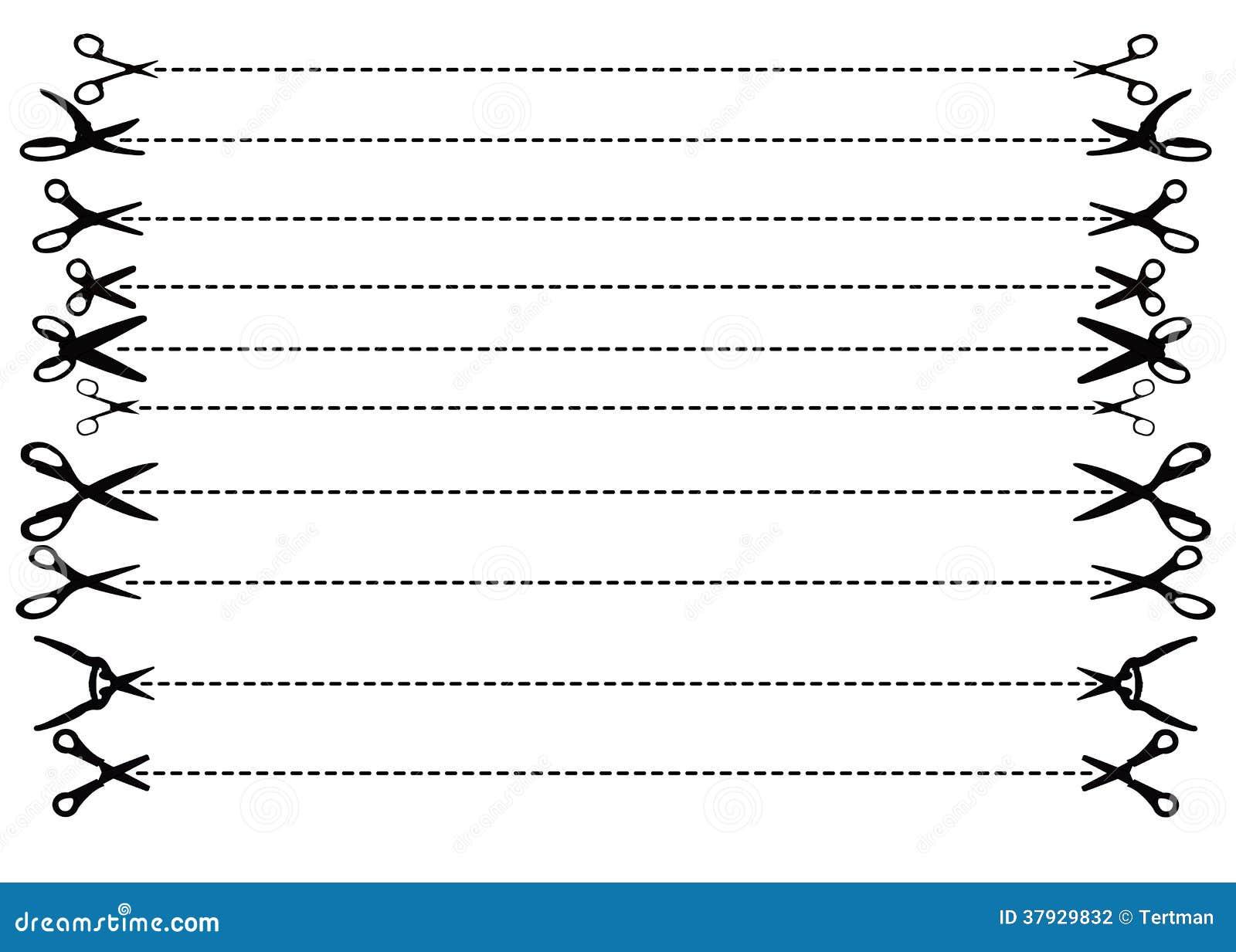 Ножницы вектора с брошенными линиями