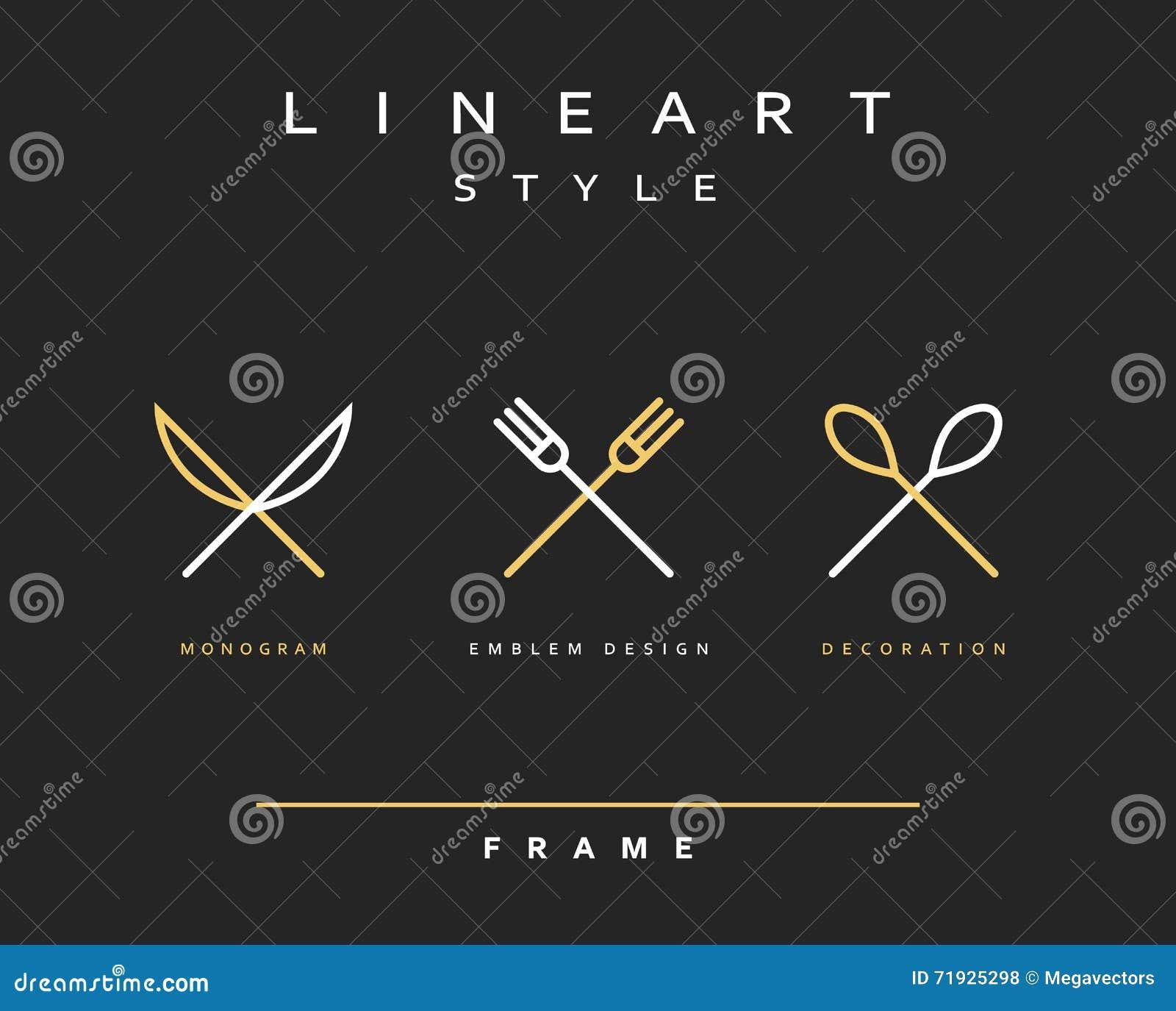 Нож, вилка и ложка значка