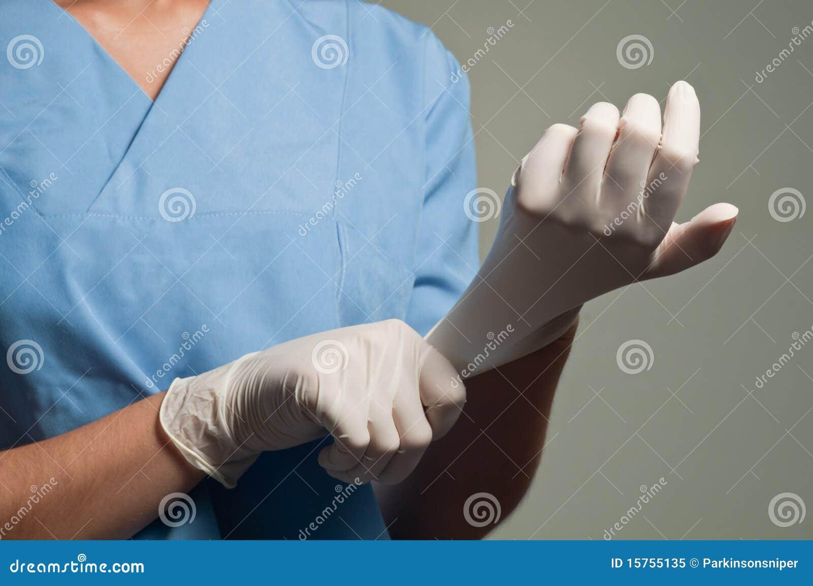 носить перчаток медицинский