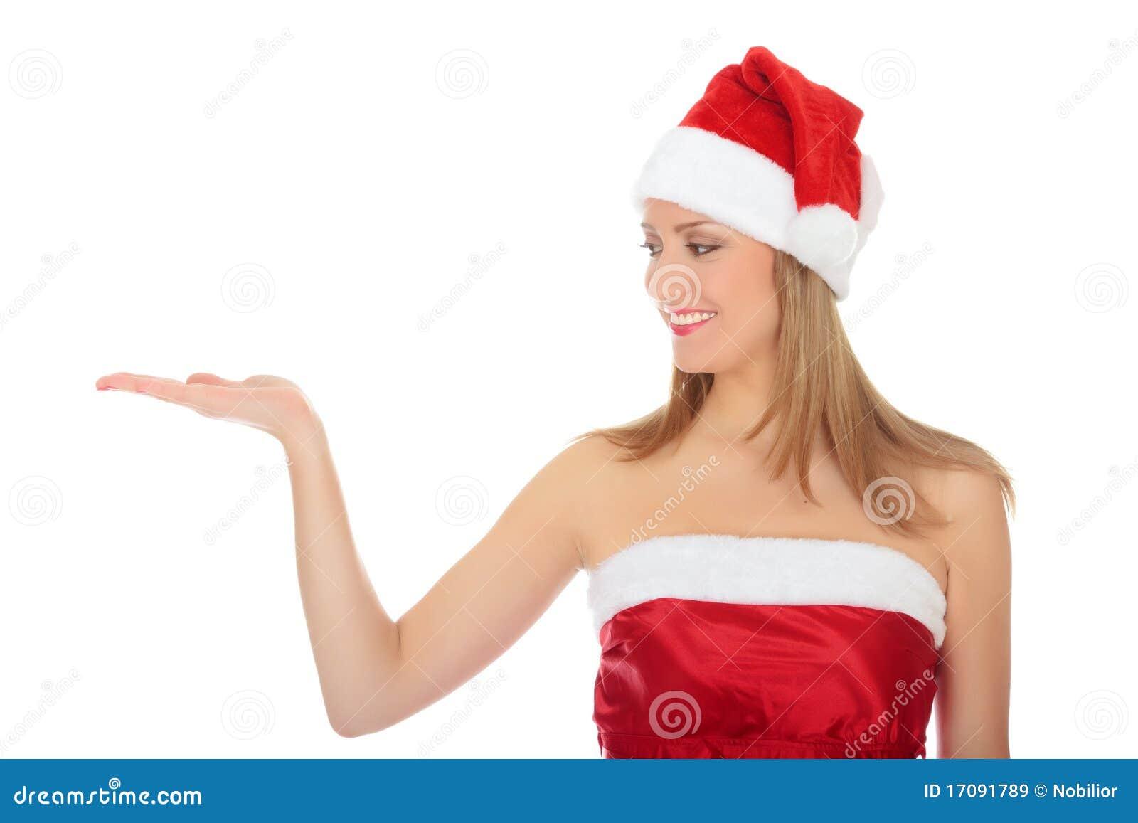 носить шлема девушки рождества довольно красный