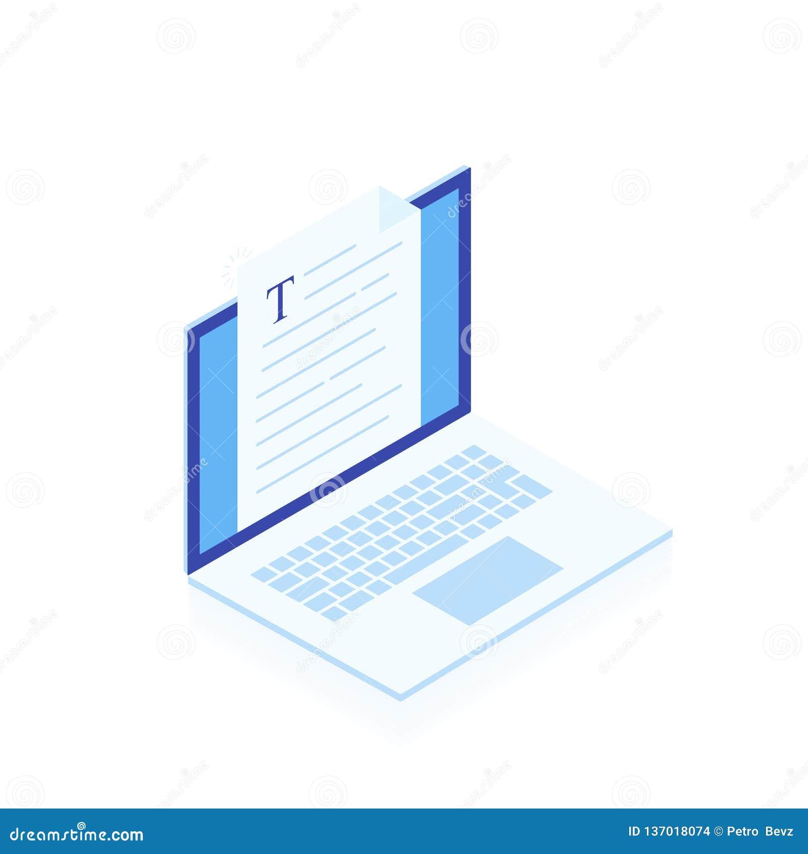 Ноутбук с записью изолированных письма или журнала на белой предпосылке, деятельности автора журналиста Блоги