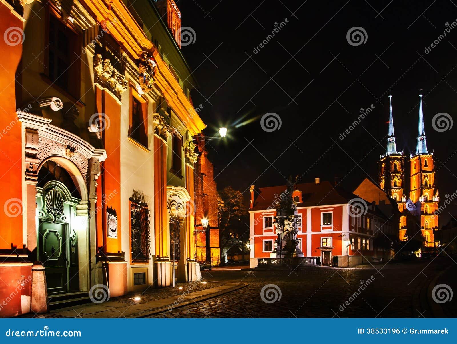 Ноча в Wroclaw