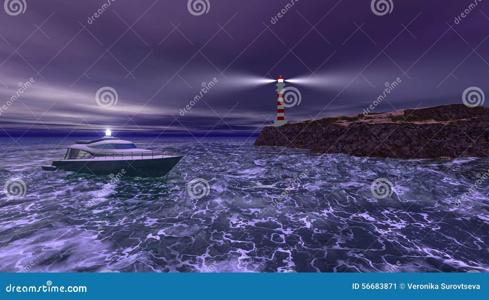 Ноча маяка бурная