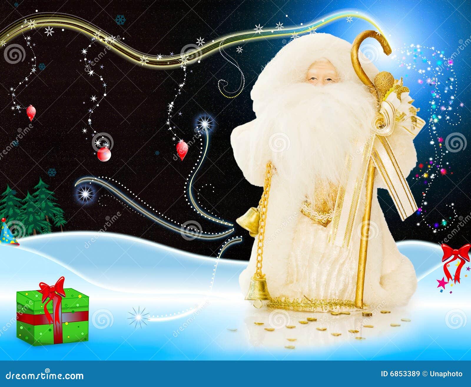 ноча santa в декабре рождества волшебная