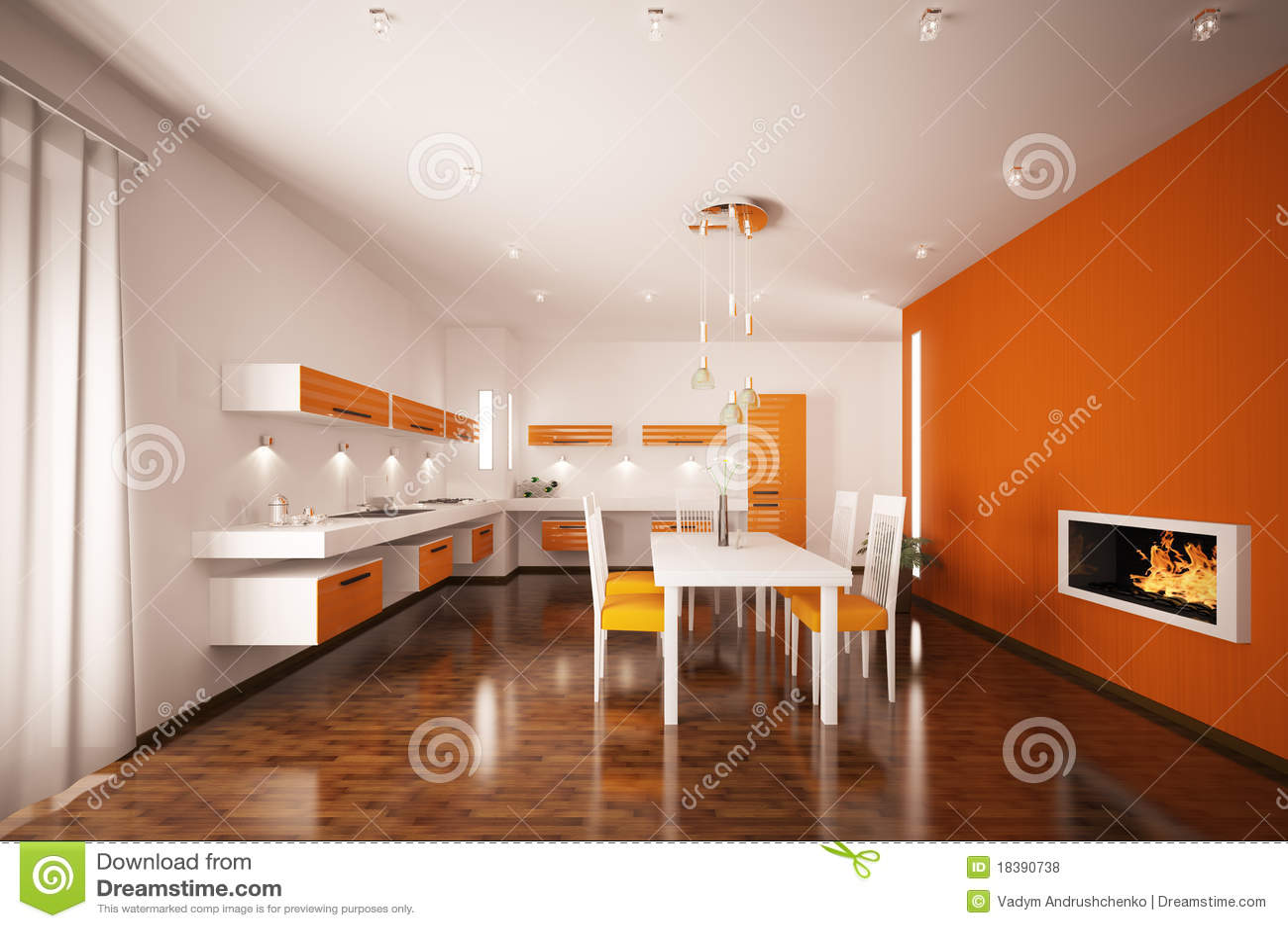 нутряная кухня 3d самомоднейшая представляет