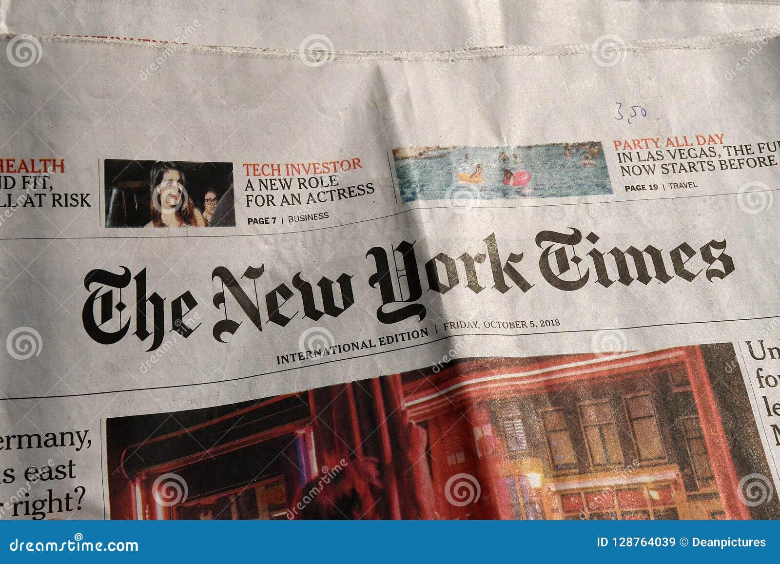 Нью-Йорк Таймс ежедневно