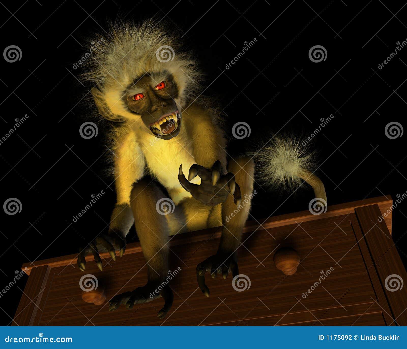 обезьяна зла демона