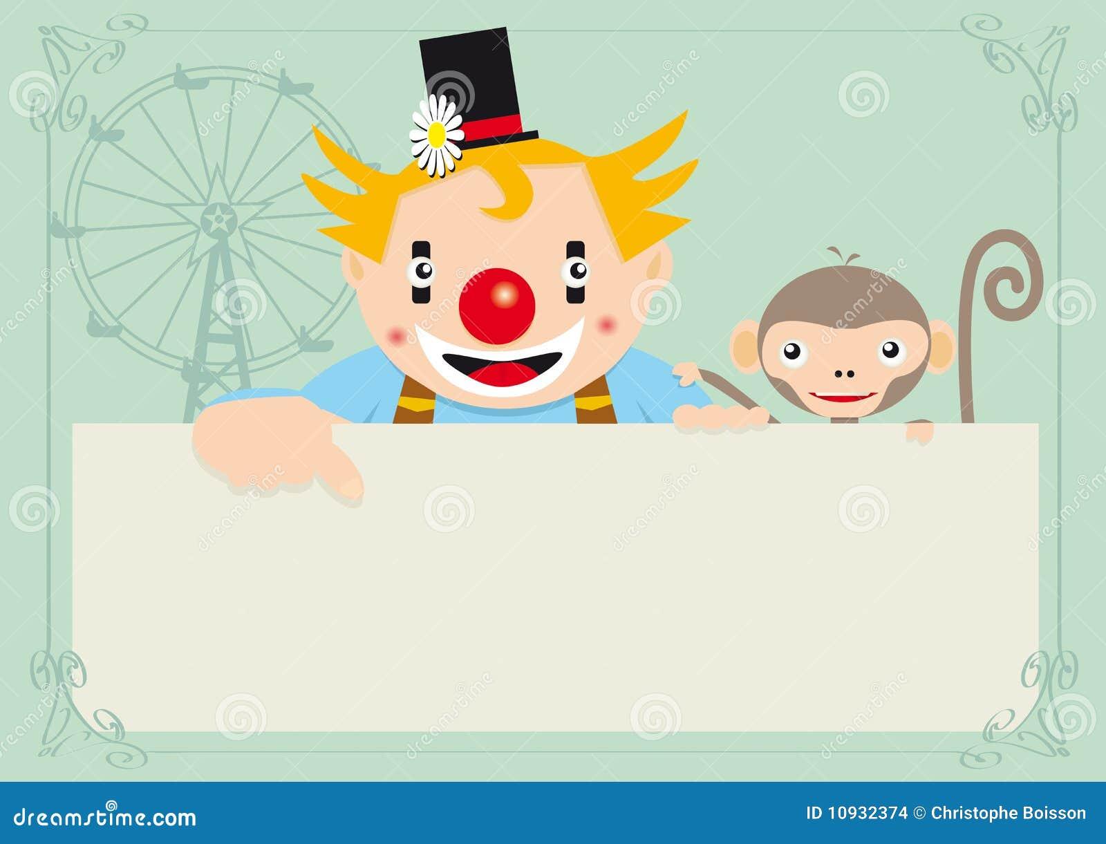 обезьяна клоуна