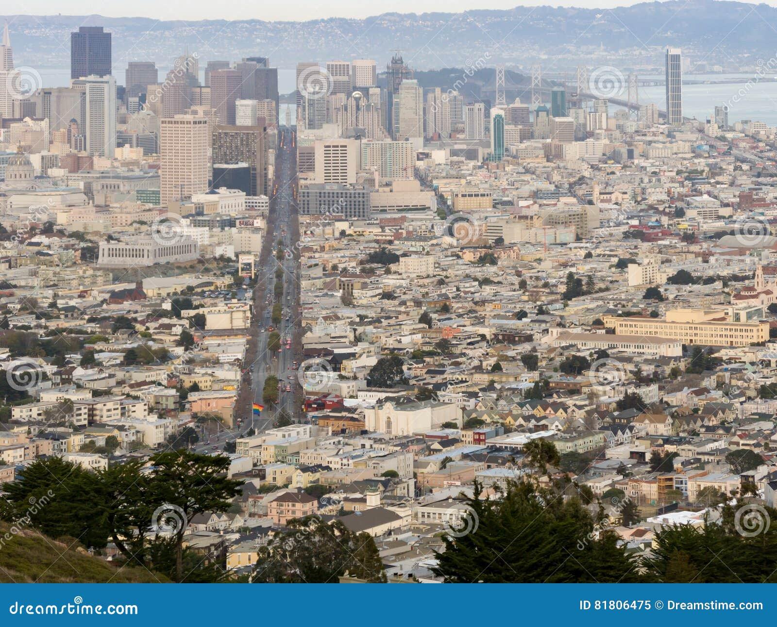 Обзор городского пейзажа Сан-Франциско
