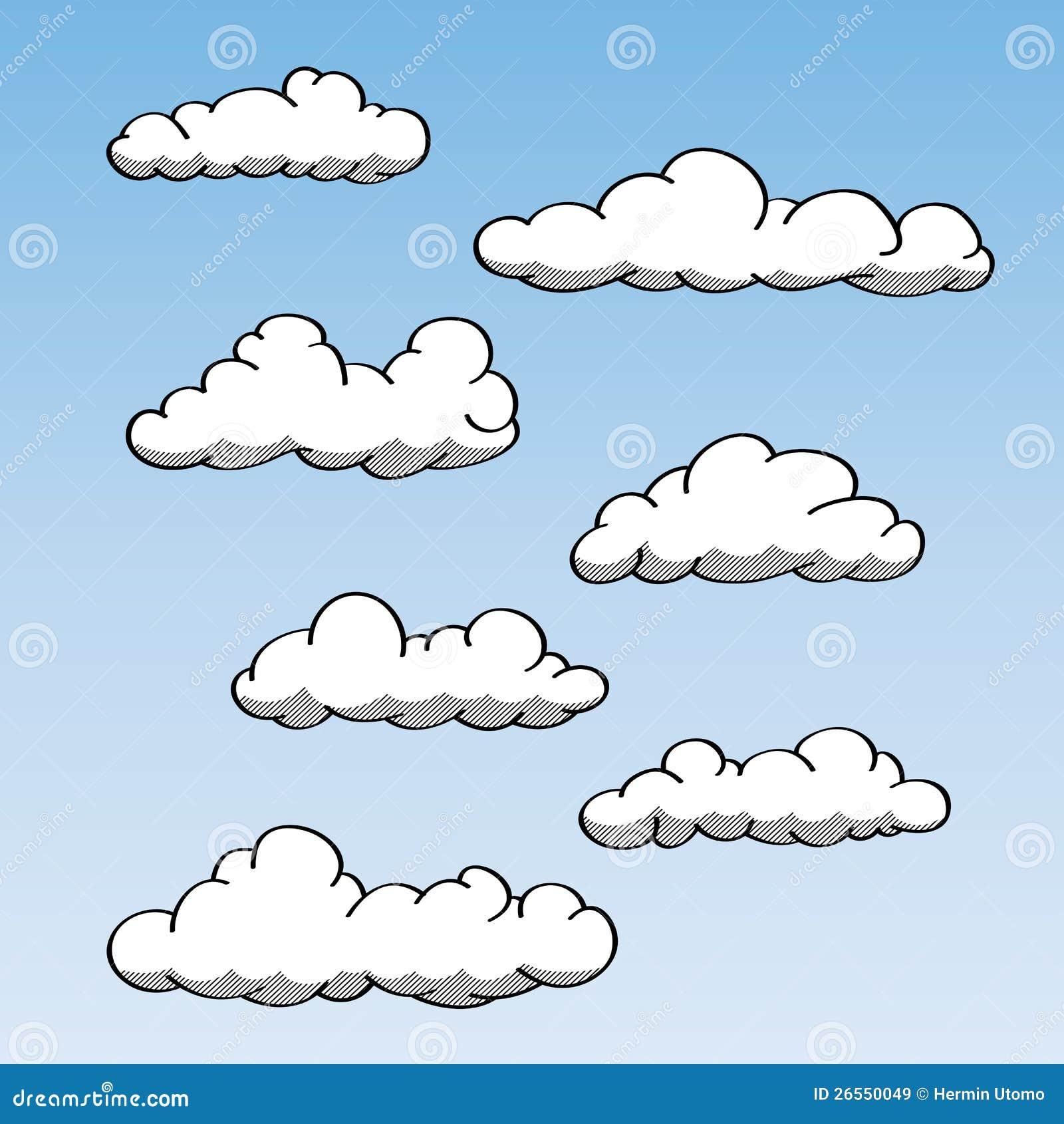 Облако рисуем карандашом