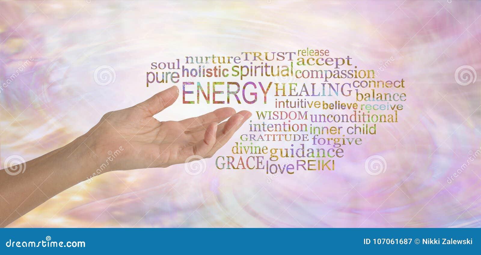 Облако бирки слова энергии заживление