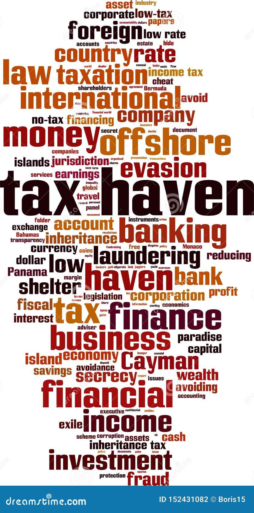 Облако слова налогового рая