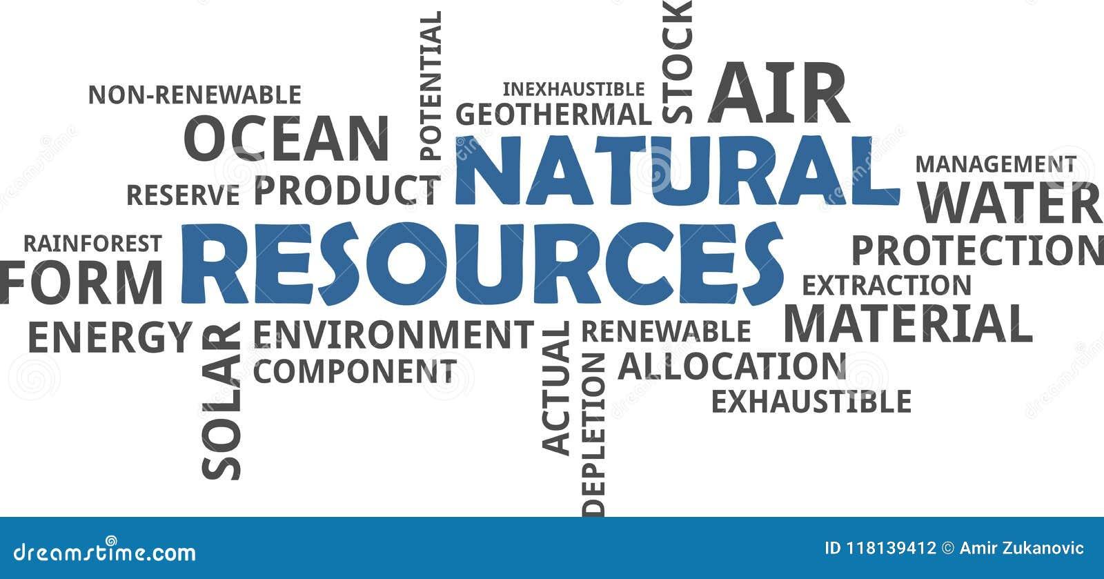Облако слова - природные ресурсы