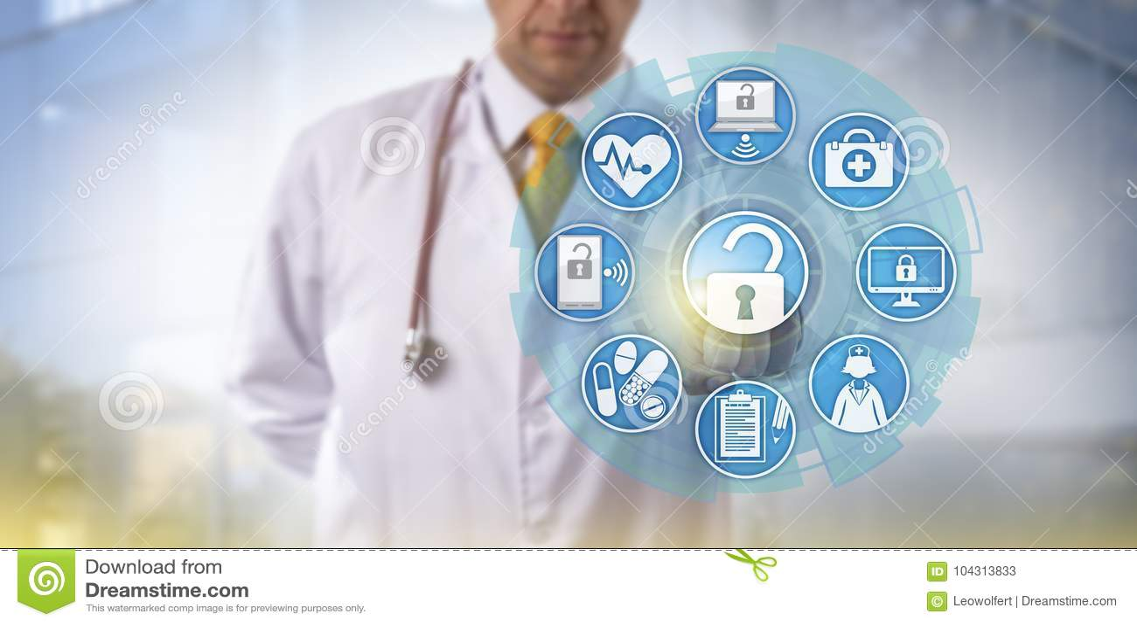 Обмен информацией доктора Initiating Здоровья