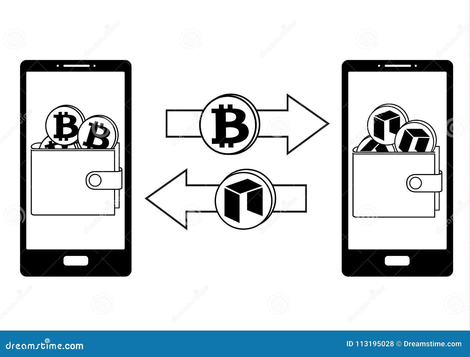 Обмен между bitcoin и нео в телефоне