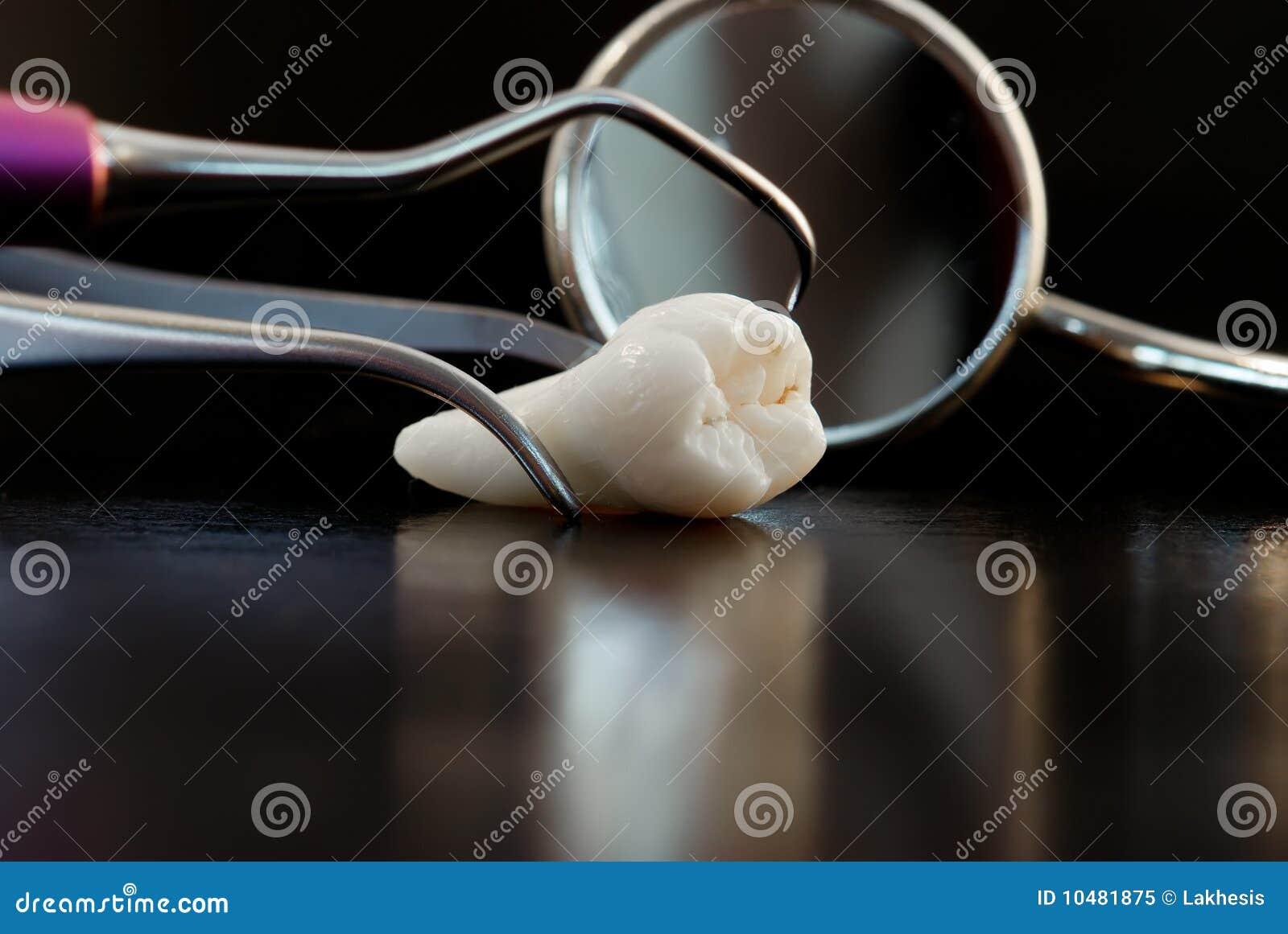 оборудует обработку зуба
