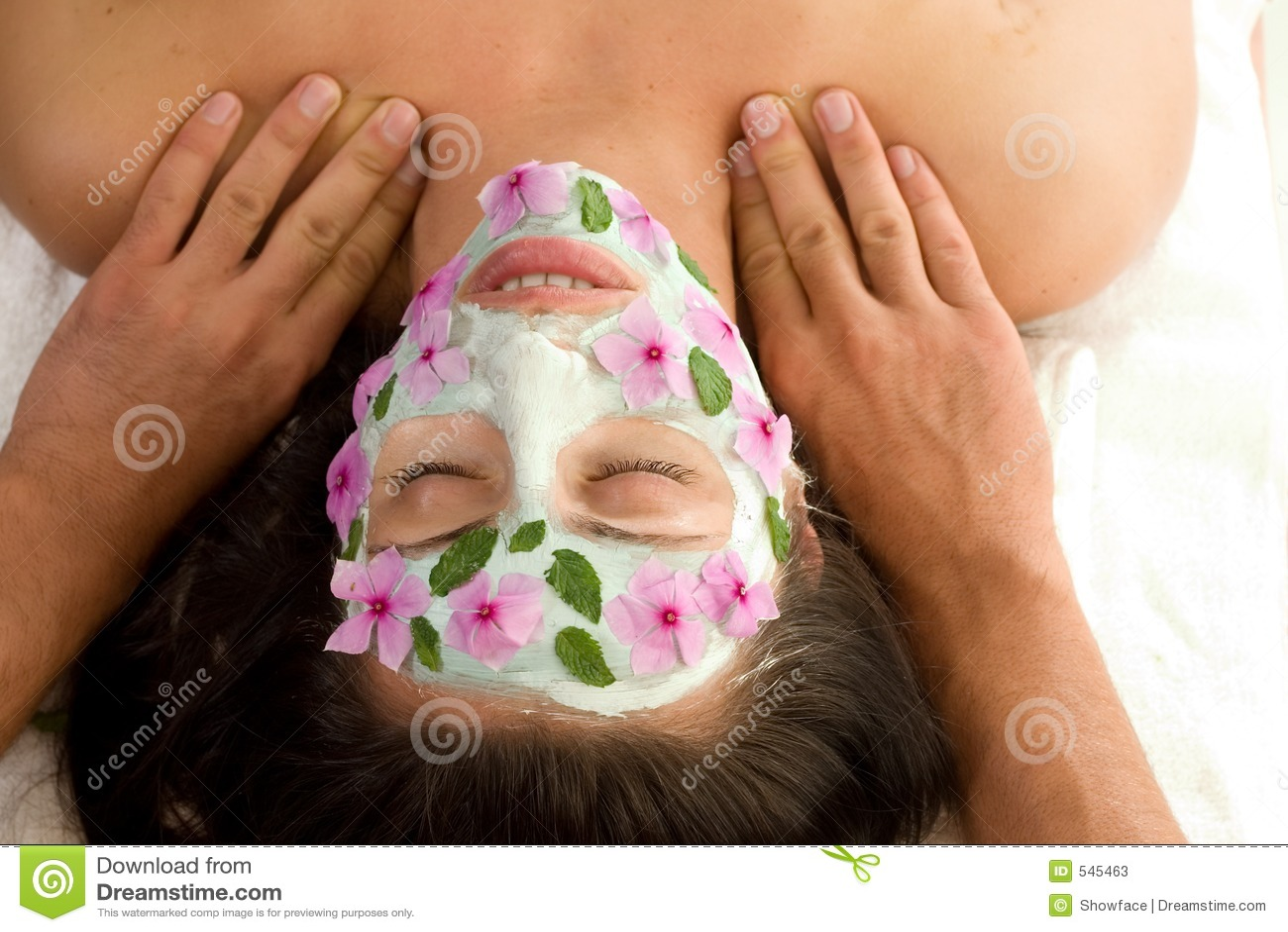 обработка массажа маски красотки
