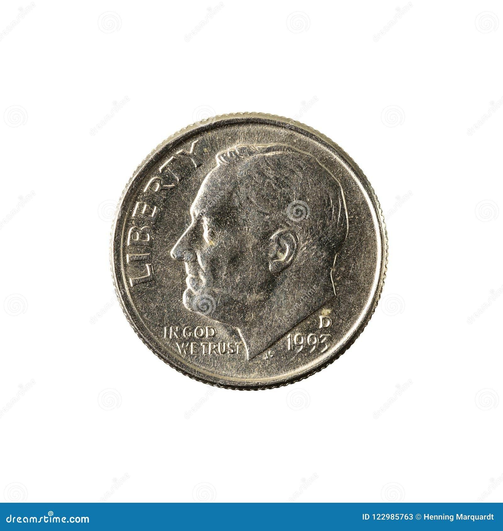 1 обратный монетки 1993 монета в 10 центов Соединенных Штатов