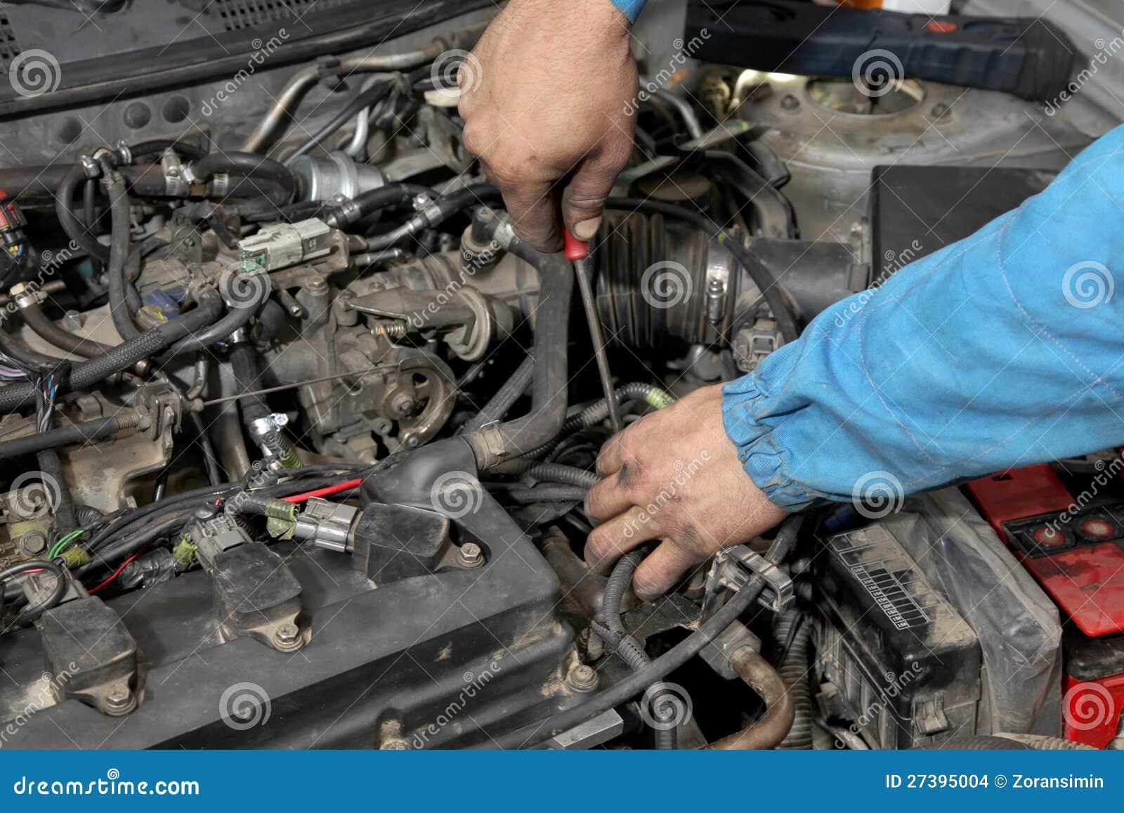 Обслуживать автомобиля