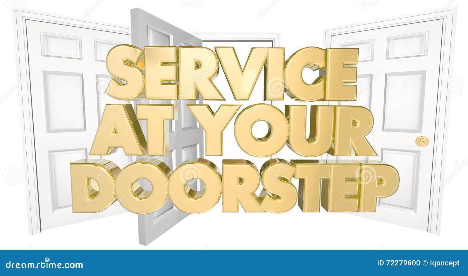 Download Обслуживание на ваших словах открыть дверей порога Иллюстрация штока - иллюстрации насчитывающей highest, несколько: 72279600