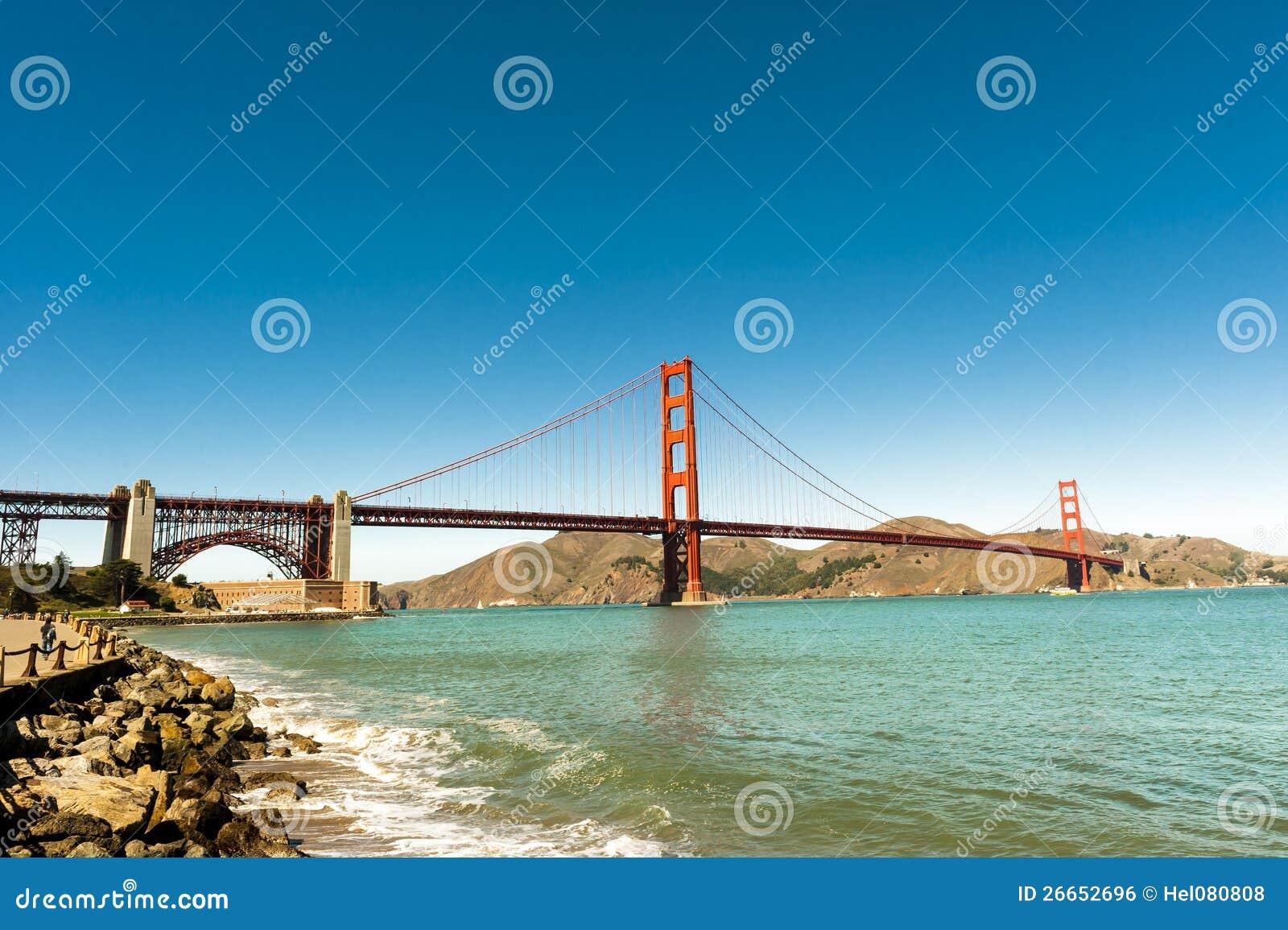 Общий взгляд моста золотистого строба San Francisco