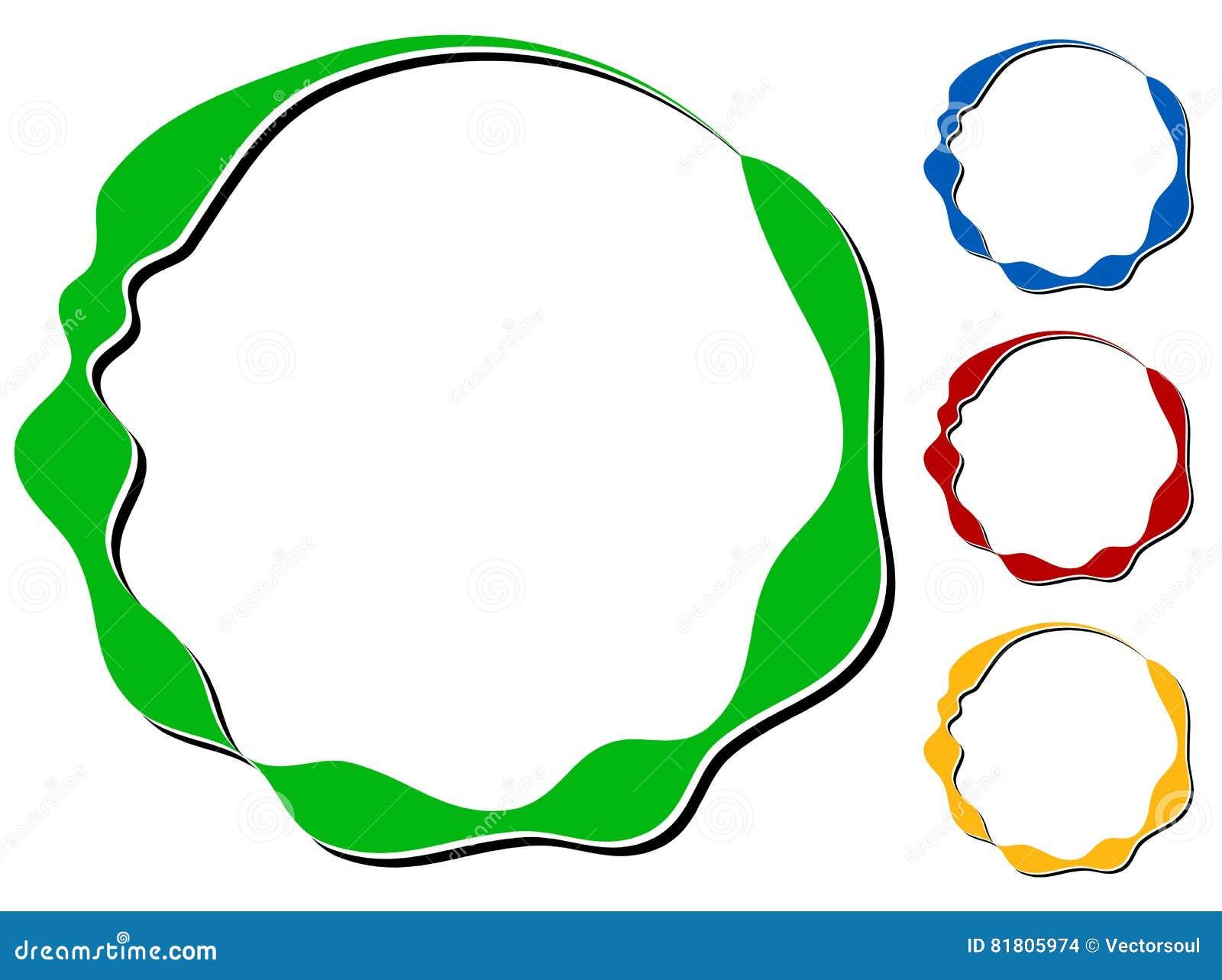 Объезжайте элемент дизайна с knockout тенью в 4 цветах