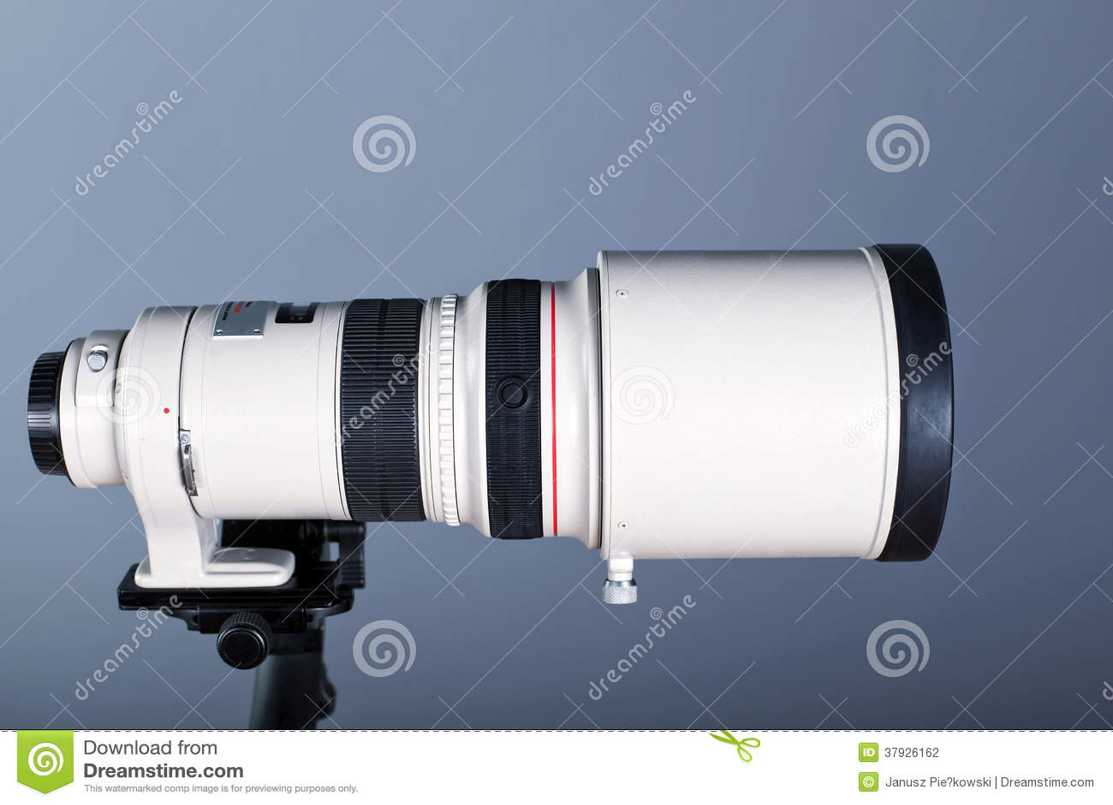 Объектив фотоаппарата телеобъектива