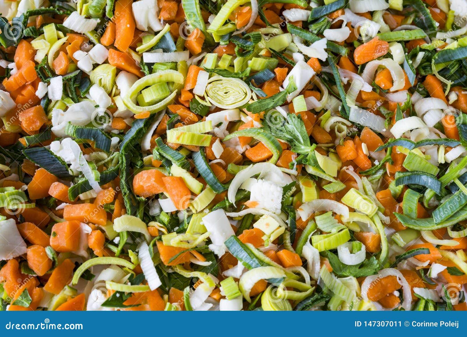 Овощи супа кучи, ингредиенты, для текстуры или предпосылки
