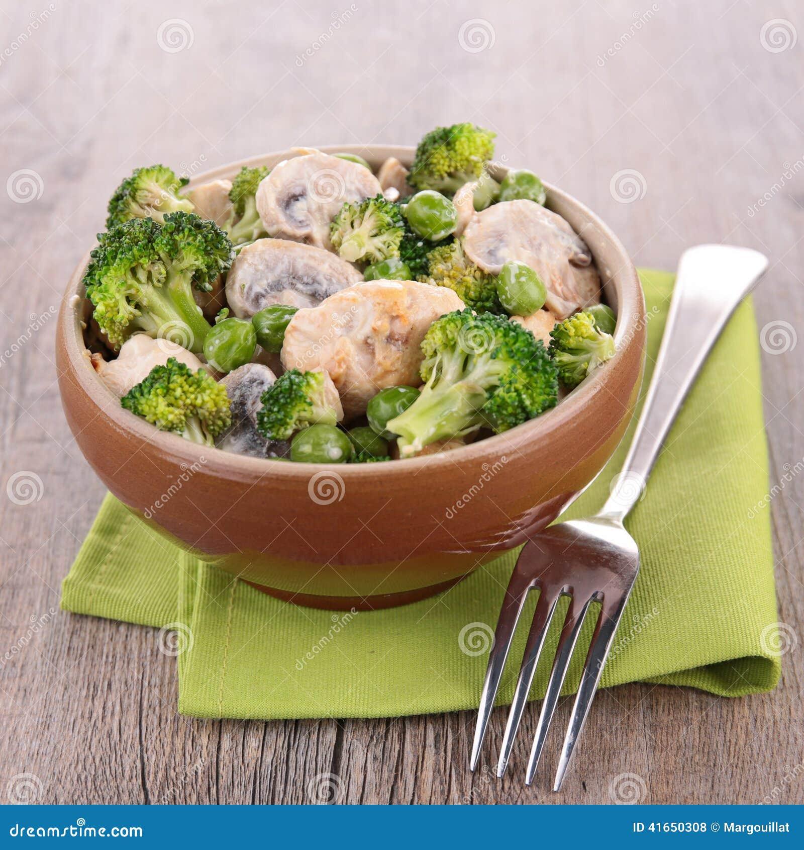 овощи цыпленка