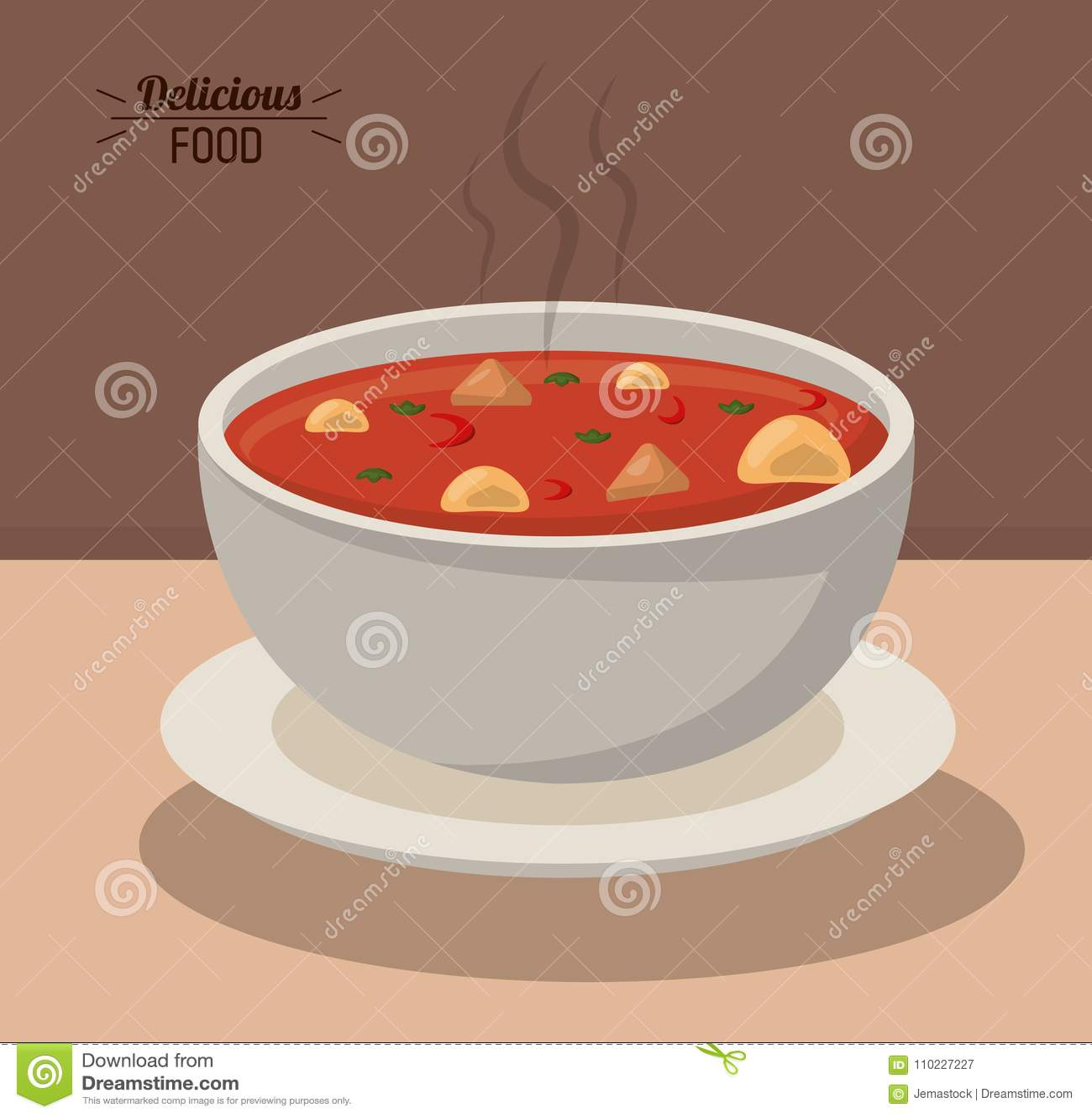 Овощ питания очень вкусного супа шара еды горячий