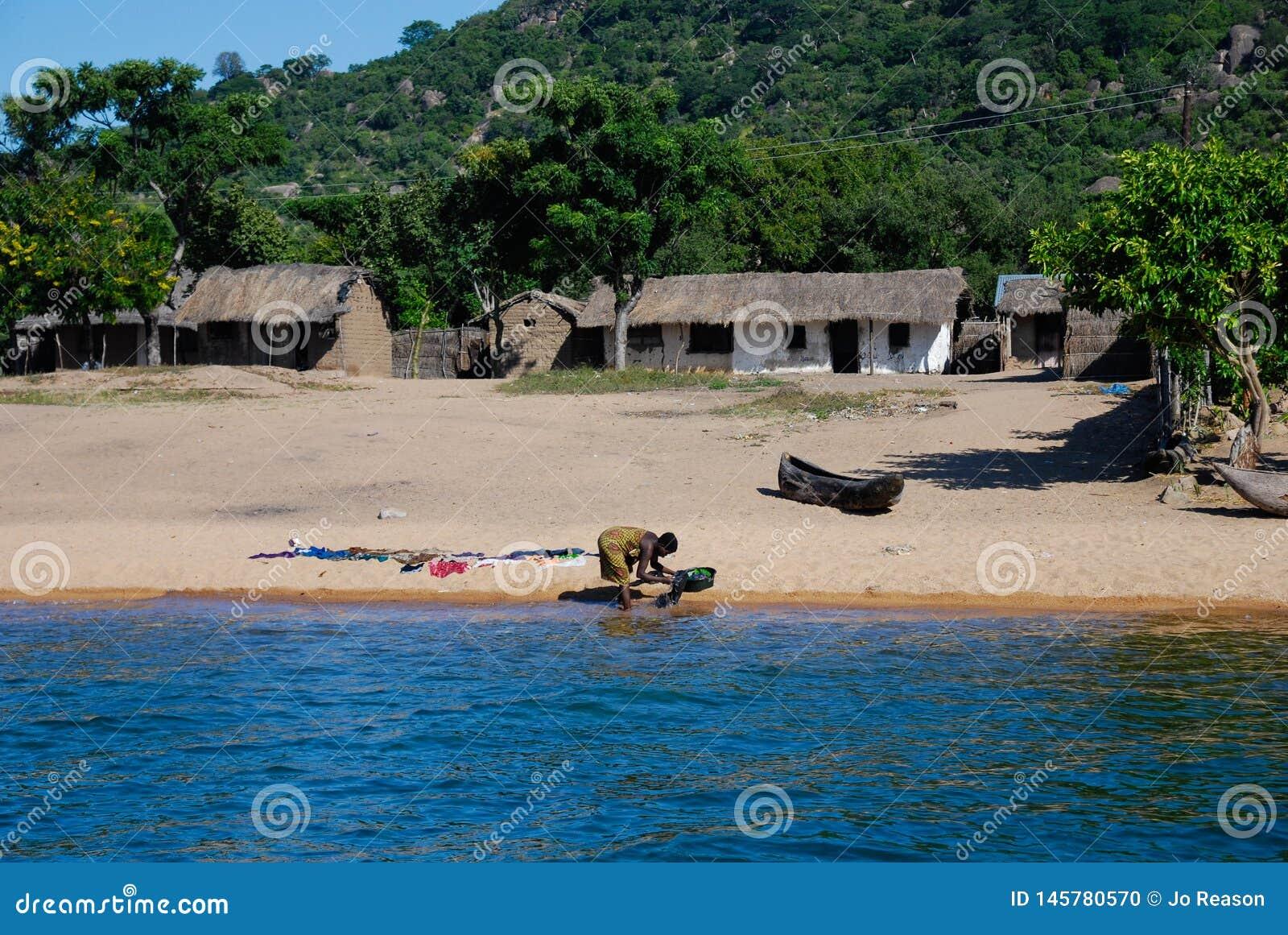 Одежды моя на озере Малави